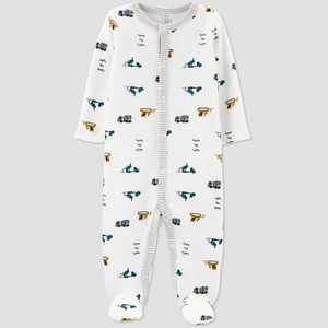 Baby Boys' Construction Thermal Sleep N' Play - Just One You made by carter's White
