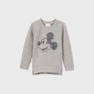 Toddler Boys' Mickey Mouse Long Sleeve Graphic T-Shirt - Gray