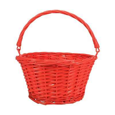 """12"""" Willow Easter Basket Coral - Spritz™"""