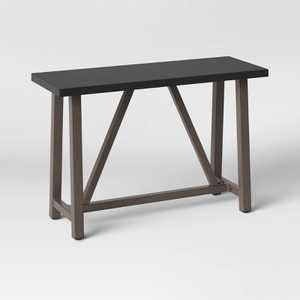 Concrete & Faux Wood Patio Console Table - Smith & Hawken™