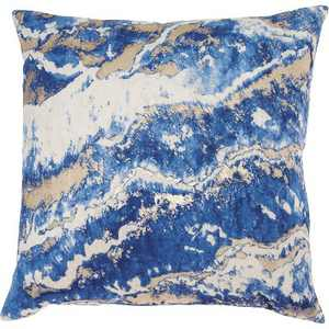 "Inspire Me! Home Decor BJ109 Navy 18"" x 18"" Throw Pillow"
