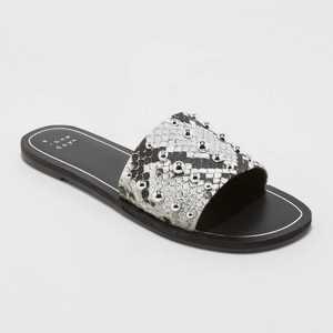 Women's Tafia Stud Slide Sandals - A New Day
