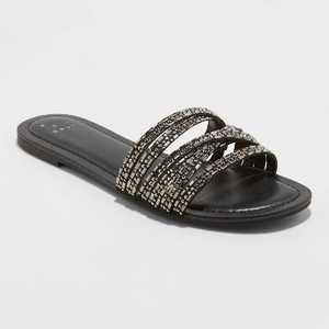 Women's Amie Embellished Strappy Slide Sandals - A New Day
