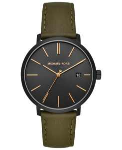 Men's Blake Olive Leather Strap Watch 42mm