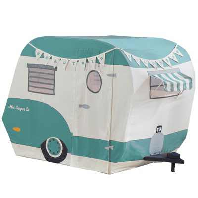 Asweets 1010400223 Indoor 43 x 55 x 36 Inch Childrens Kids Cotton Fabric Mini Camper Pretend Play House Tent for Toddlers Ages 3 Years Old and Older