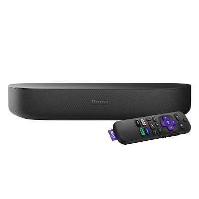 Roku Streambar   HD/4K/HDR Streaming Media Player & Premium Audio, All in One, and Voice Remote with TV controls (2020)