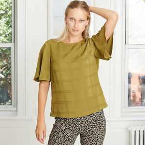Women's Short Sleeve Woven T-Shirt - A New Day