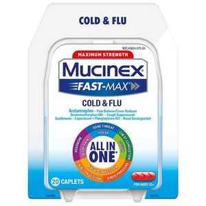 Mucinex Fast-Max Caplets - Cold & Flu - 20ct