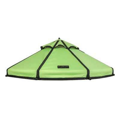 Advantek Pet 5 Foot Pet Outdoor Gazebo Designer Polyester Market Canopy Cover Tarp Umbrella Top, River Green