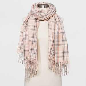 Women's Plaid Scarf - A New Day™ Tan