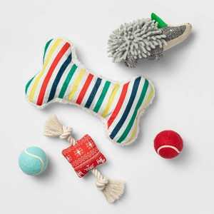 Dog Toy Gift Set - Red - 5pk - Boots & Barkley™