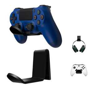 Insten 2-Pack Acrylic Headphone Stand & Gaming Controller Wall Mount Holder for Xbox One, PS4, PS5, Nintendo Switch & Gamer Headset, Black