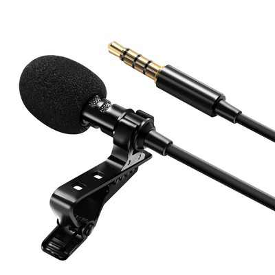 Professional 3.5mm Lavalier Lapel Microphone Omnidirectional Mic with Metal Clip For Recording Youtube Conference Call Cell phone PC Computer Insten