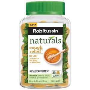 Robitussin Naturals Cough Relief Honey & Ivy Leaf Gummies - 30ct