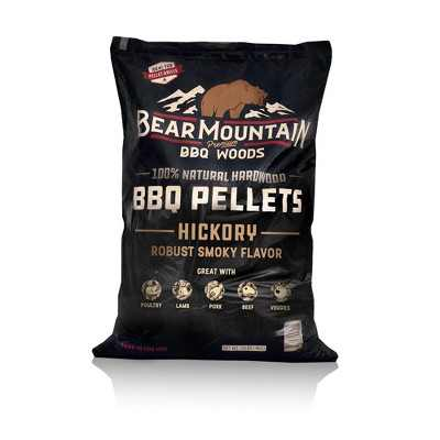 Bear Mountain BBQ FB14 Premium All-Natural Hardwood Hickory BBQ Smoker Pellets for Pellet Grills and Smokers, 40 lbs