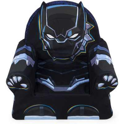 Marshmallow Furniture Comfy Foam Toddler Chair Kid's Furniture for Ages 18 Months Old and Up, Marvel Black Panther
