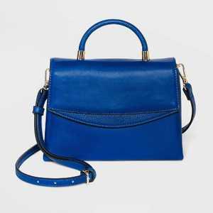 Mini Top Handle Magnetic Flap Closure Satchel Handbag - A New Day