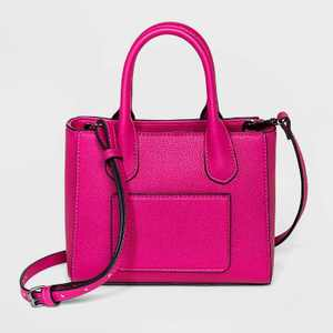 Convertible Mini Boxy Magnetic Closure Satchel Handbag - A New Day