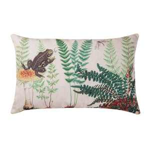 "C&F Home 14"" x 22"" Fern & Frog Botanical Indoor/Outdoor Decorative Throw Pillow"