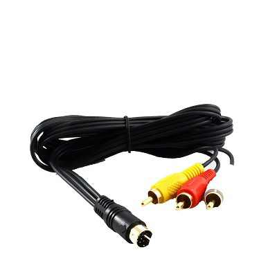 Retro-Bit 6 Feet Gold Plated AV Composite Cable Compatible with Sega Saturn System