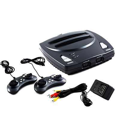 Retro-Bit 2 In 1 8-bit And 16-Bit Controllers AC Adapter And AV Cables Compatible with Sega Genesis cartridges
