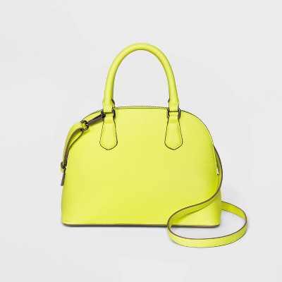 Small Zip Closure Dome Satchel Handbag - A New Day™ Green