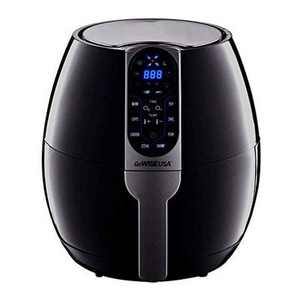 GoWise GW22638 3.7-Quart Programmable Air Fryer with 8 Cooking Presets, Black