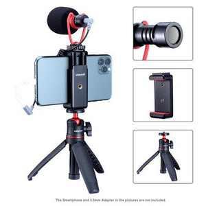 Ulanzi Smartphone Vlogging Super Extension Tripod Handle Outfit Video Kit, Includes Mini Extension Pole Tripod, ST-07 Phone Clip & VM-Q1 Microphone