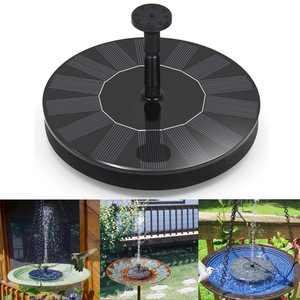 Peroptimist Outdoor Solar Bird Bath Water Fountain Pump, Free Standing 1.4W Floating Bird Bath Outdoor Fountain Pump for Garden and Patio, Solar Panel Kit Water Pump
