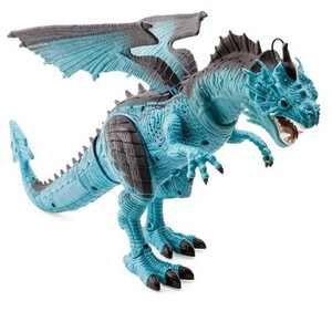 HearthSong Steam-Breathing Dragon for Kids' Imaginative Play- Screeches, Stomps, and Snorts Cool Steam