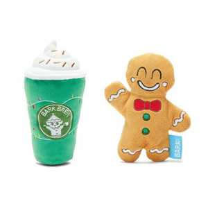 BARK Gingrbrew Holiday Dog Toy - Gingerbrew Man