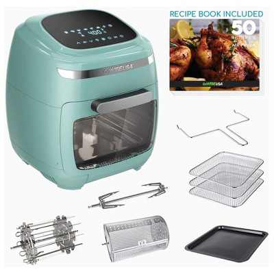 GoWISE Vibe 11.6-Quart Air Fryer Toaster Oven w/ Rotisserie & Dehydrator, Mint