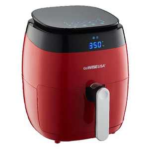 GoWISE USA GW22826-S 1500 Watt 5 Quart Digital Touchscreen Countertop Air Fryer with 8 Preset, Red