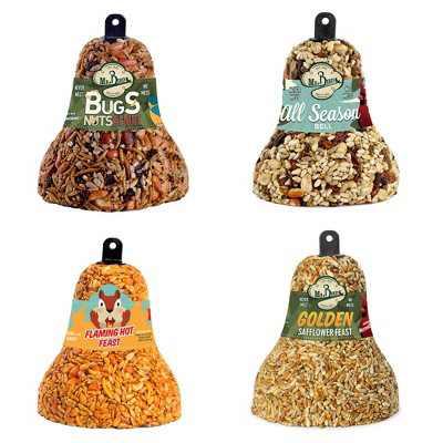 "Home & Garden 5.25"" Seed Bell Variety Set Bird Feeding Cardinals Wrens Mr Bird  -  Bird And Wildlife Food"