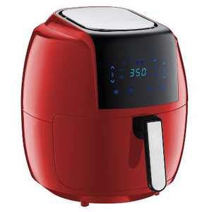GoWISE USA GW22945 1700 Watt 7 Quart 8-in-1 Programmable Digital Air Fryer with Recipe Book, Chilli Red