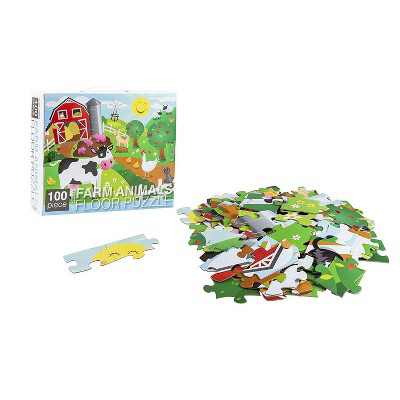 100-Piece Giant Floor Puzzle, Rainbow Unicorn Jumbo Jigsaw Puzzles for Toddlers Preschool, Toy Puzzles for Kids Ages 3-5, 2 x 3 Feet