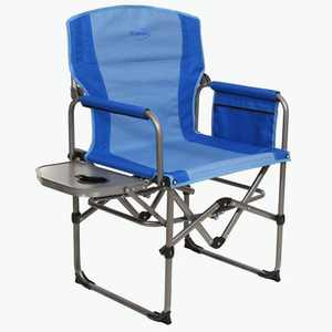 Kamp-Rite KAMPCC406 Compact Director's Chair Outdoor Furniture Camping Folding Sports Chair with Side Table and Cup Holder, 2 Tone Blue