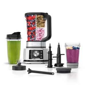 Ninja Foodi Power Blender & Processor System with Smoothie Bowl Maker and Nutrient Extractor + 4in1 Blender + Preset