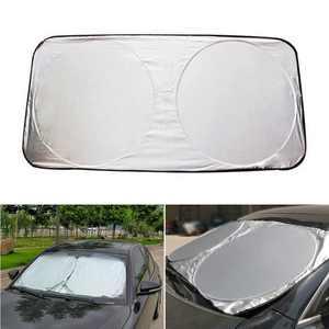 59''x31'' Windshield Sun Shade Front Window Sunshade Windscreen Cover UV Rays Sun Visor Protector Foldable for Car Windshield Will Keep Your Vehicle Cooler