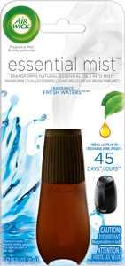 Air Wick Essential Mist Refill, 1ct, Fresh Water Breeze, Essential Oils Diffuser, Air Freshener