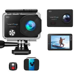 VanTop Moment 3, 4K Wifi Action Camera, Sports Camera with16MP Sony Sensor, Gopro Compatible Case,Remote Control, Ultra Wide View Angle, 2 Batteries and 21 GoPro Compatible Accessories Kits