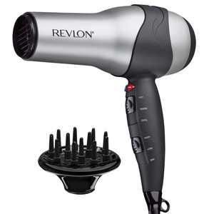 Revlon Perfect Heat Ceramic Turbo Ionic Hair Dryers, Gray with Diffuser