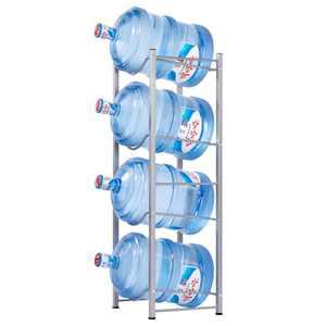Zimtown Water Bottle 4 Tier Cabby Rack, 5 Gallon Water Bottle Storage Rack