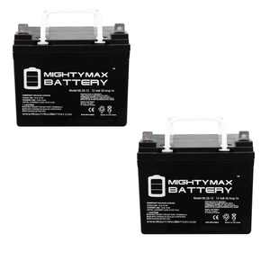 """Mighty Max 12V 35Ah Pride Mobility BATLIQ1017 AGM U1 Replacement Battery - 2 Pack"""
