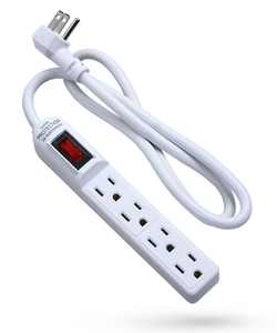 Surge Protector Power Strip Flat Plug, Fosmon [ETL Listed] 4-Outlet, 1875W 15A 300J, 3FT Extension Cord with 3 Prong