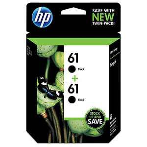 HP 61 Ink Cartridges - Black, 2 Cartridges (CZ073FN)