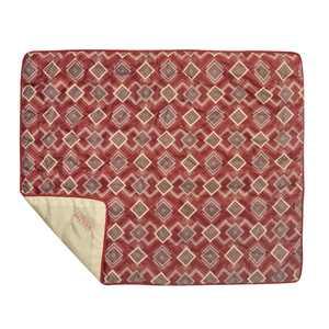 """Wenzel 70"""" x 60"""" Camp Quilt - Red Brick Geo Print"""