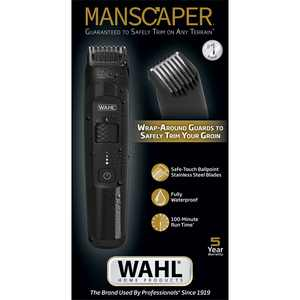 Wahl Manscaper Lithium Ion Body Groomer for Men, Face, Chest, Back and Groin  5618-100