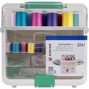 SINGER Sew Essentials+ Sewing Kit, 224 Piece