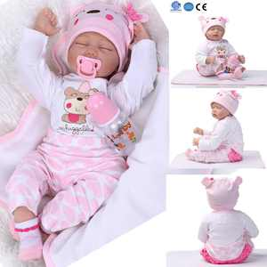"UBesGoo 22"" Real Looking Soft Silicone Lifelike Baby Doll Girl Preemie Handmade Cute"